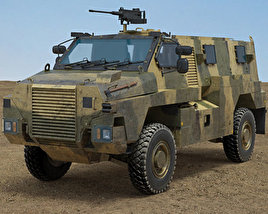 3D model of Bushmaster Protected Mobility Vehicle