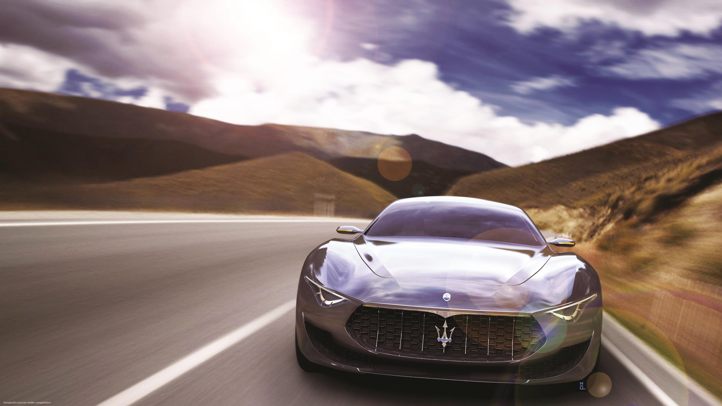 Maserati Alfieri 3d art