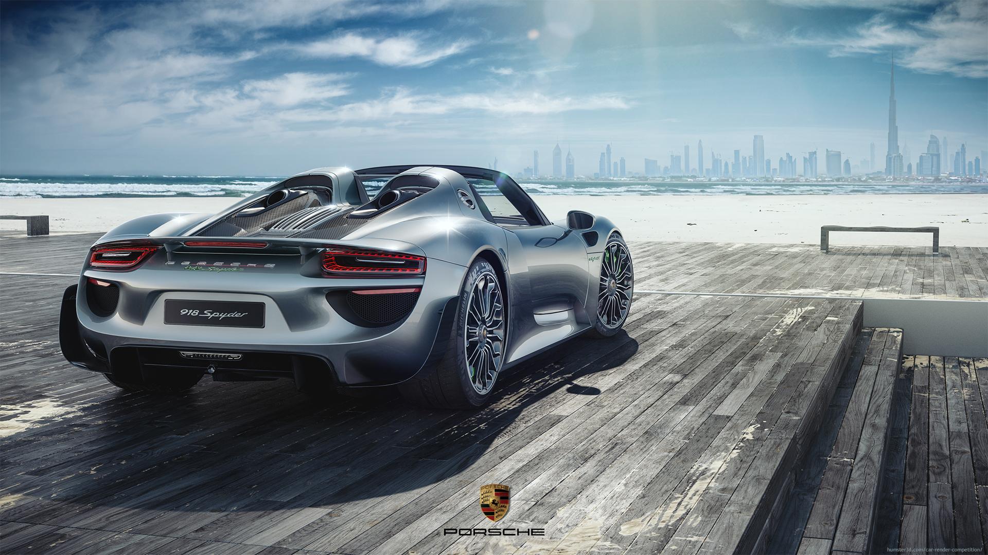 Porsche Spyder 918 3d art
