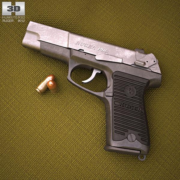Ruger P90 3D模型