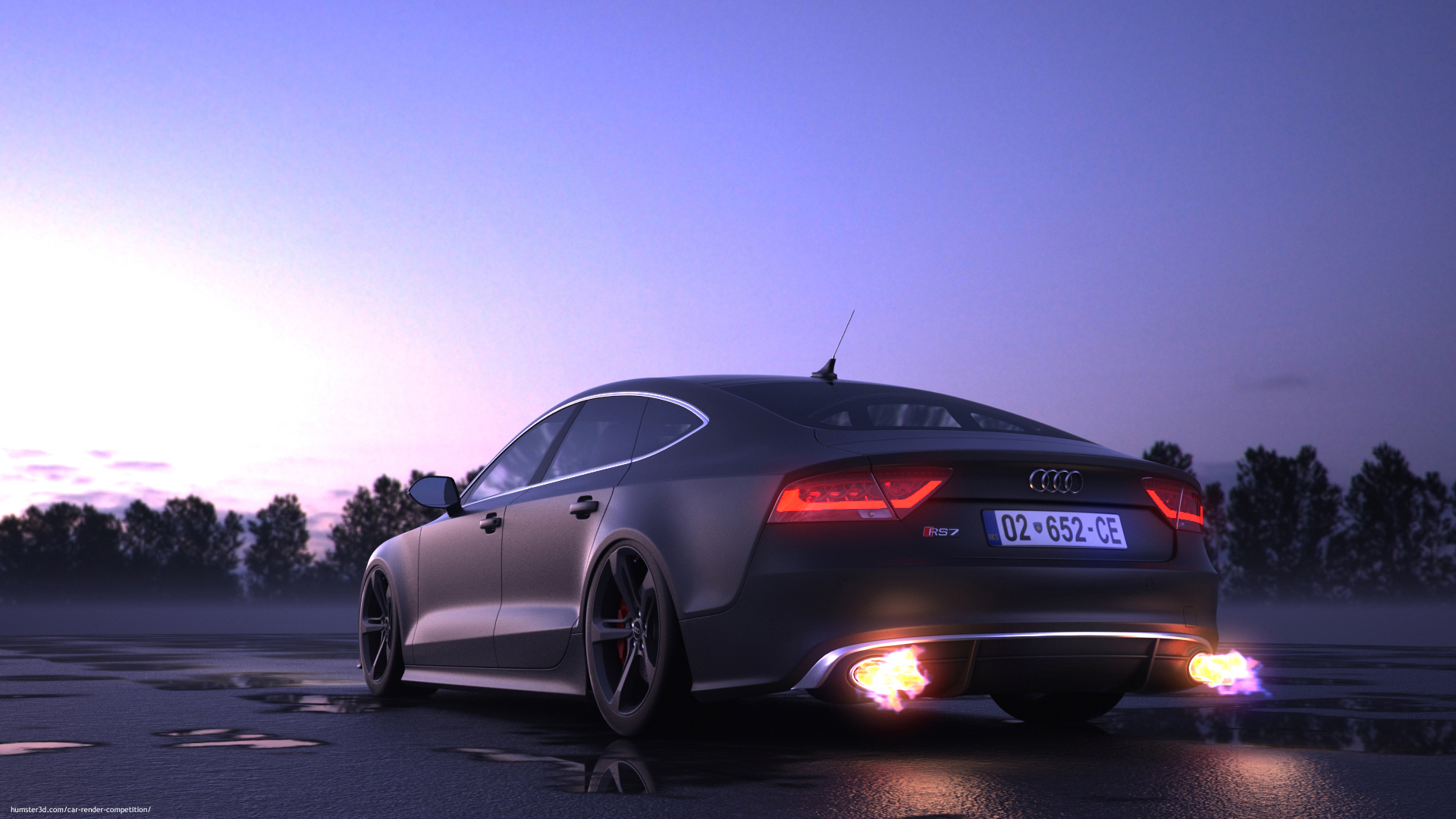 Audi rs7 3d art