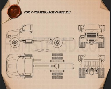 Ford F-750 Regular Cab Chassis 2012 Blueprint