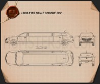 Lincoln MKT Royale Limousine 2012 Blueprint