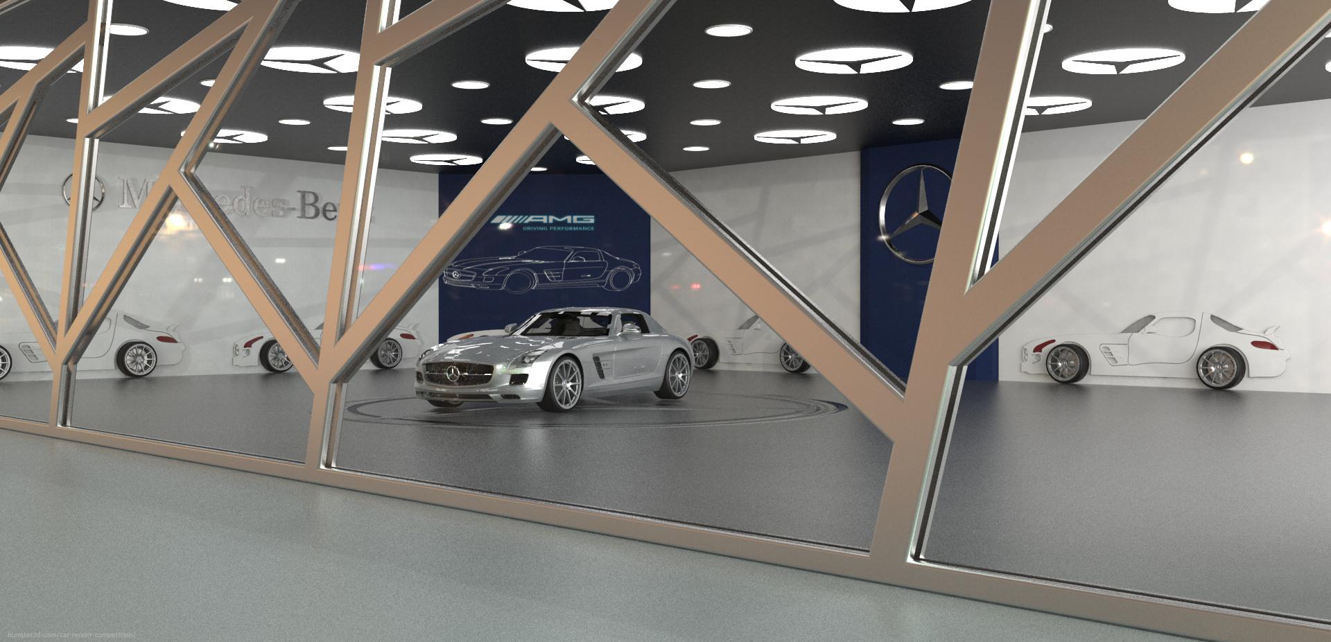 Mercedes ShowRoom 3d art