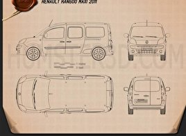 Renault Kangoo Maxi 2011 Blueprint