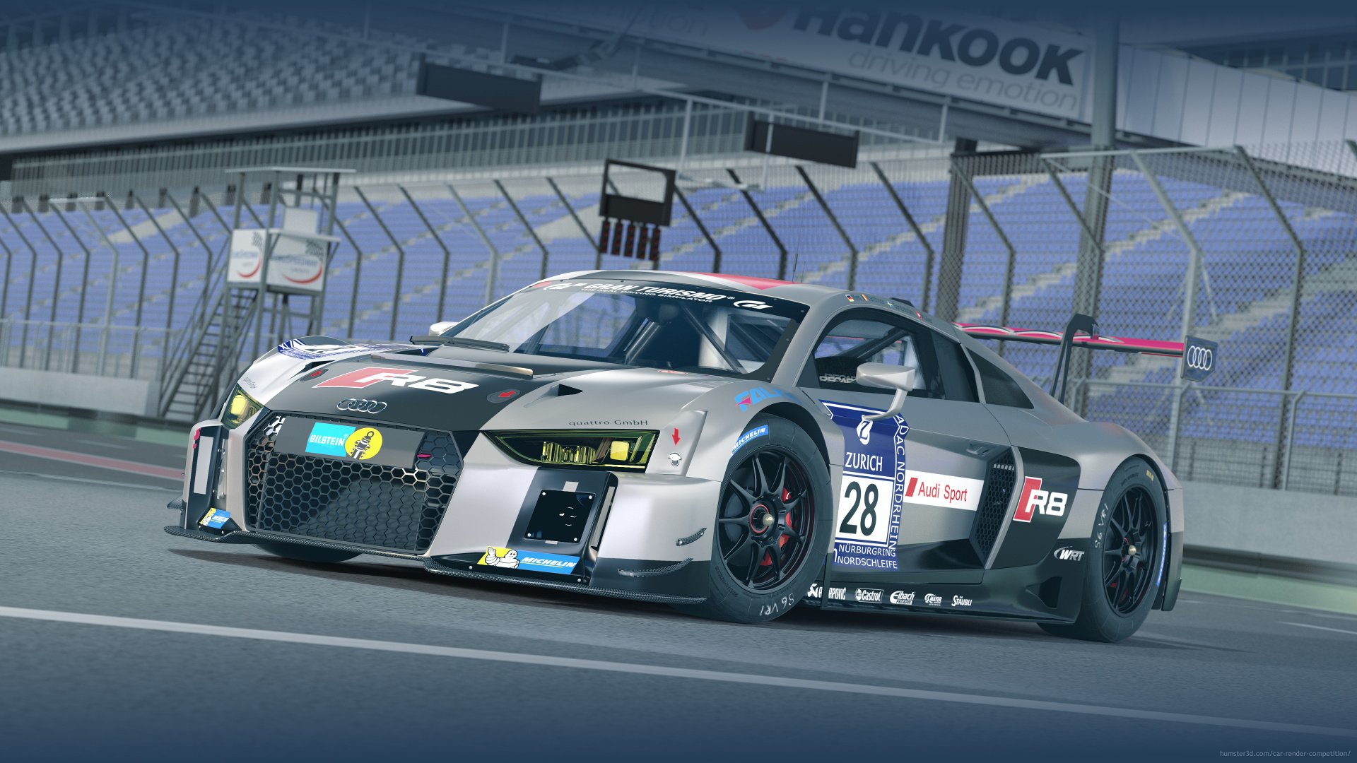 Audi R8 LMS - Champion 2015 24h Nürburgring 3d art