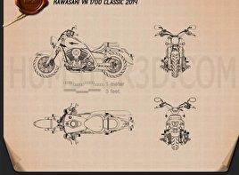Kawasaki Vulcan 1700 Classic 2014 Blueprint