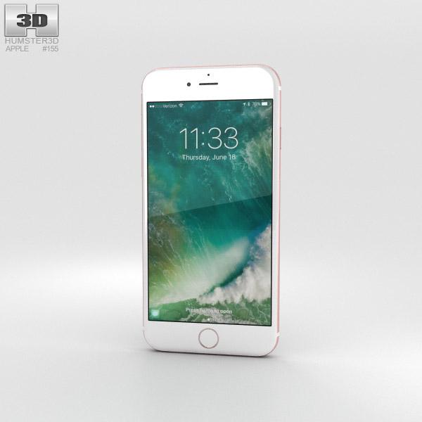 Apple iPhone 7 Rose Gold 3D model