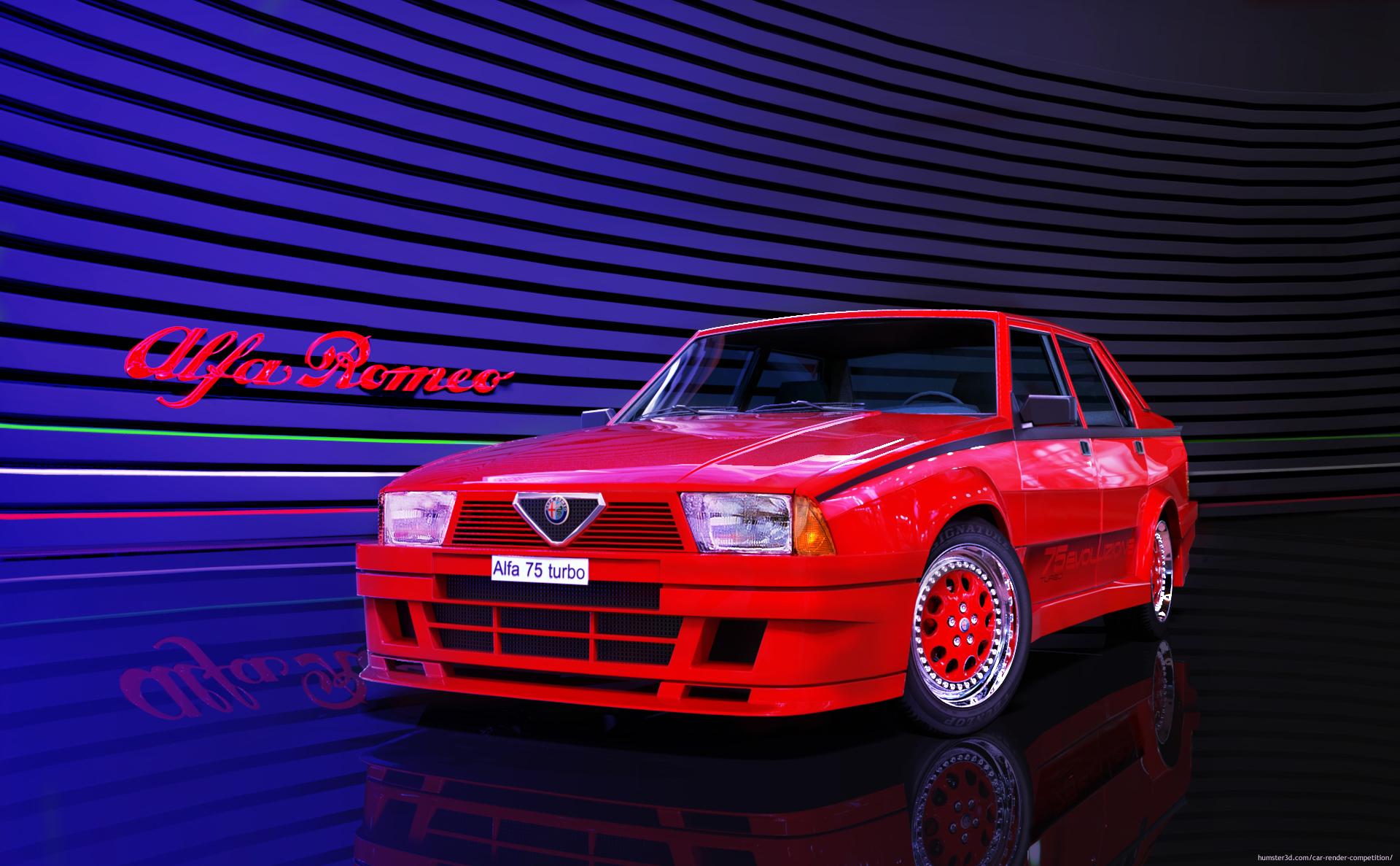Alfa 75 Turbo Evoluzione 3d art