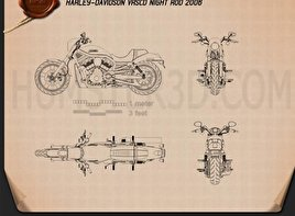 Harley-Davidson VRSCD Night Rod 2006 Blueprint