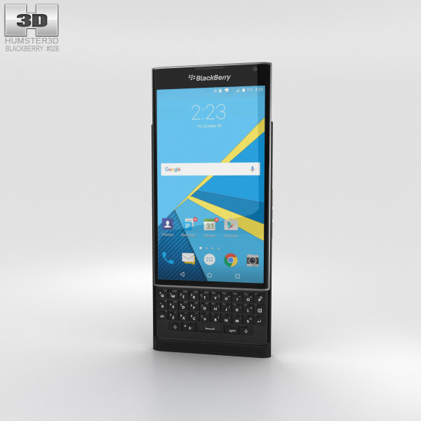 BlackBerry Priv Black 3D model