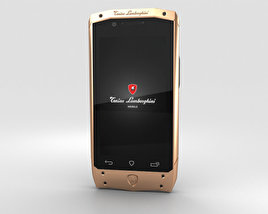 3D model of Tonino Lamborghini Antares Rose Gold Black Leather