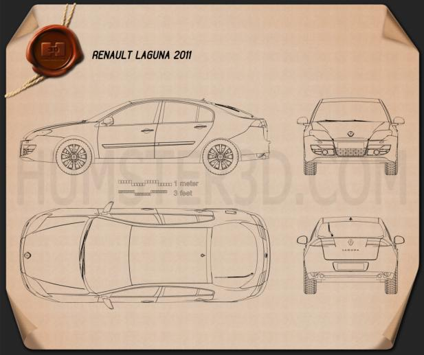 Renault Laguna 2011 Blueprint