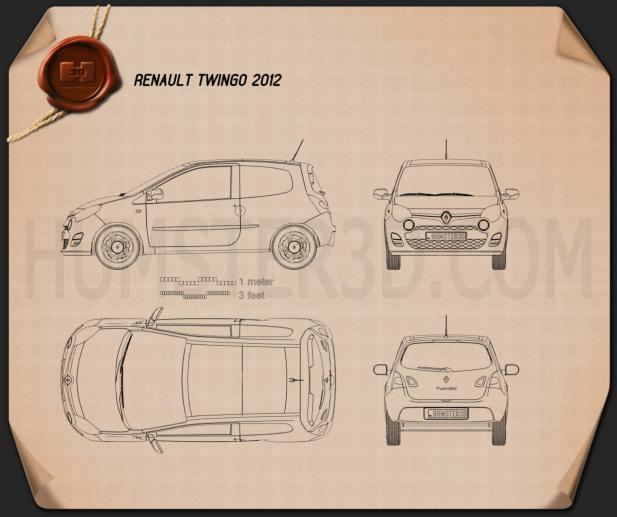 Renault Twingo 2012 Blueprint