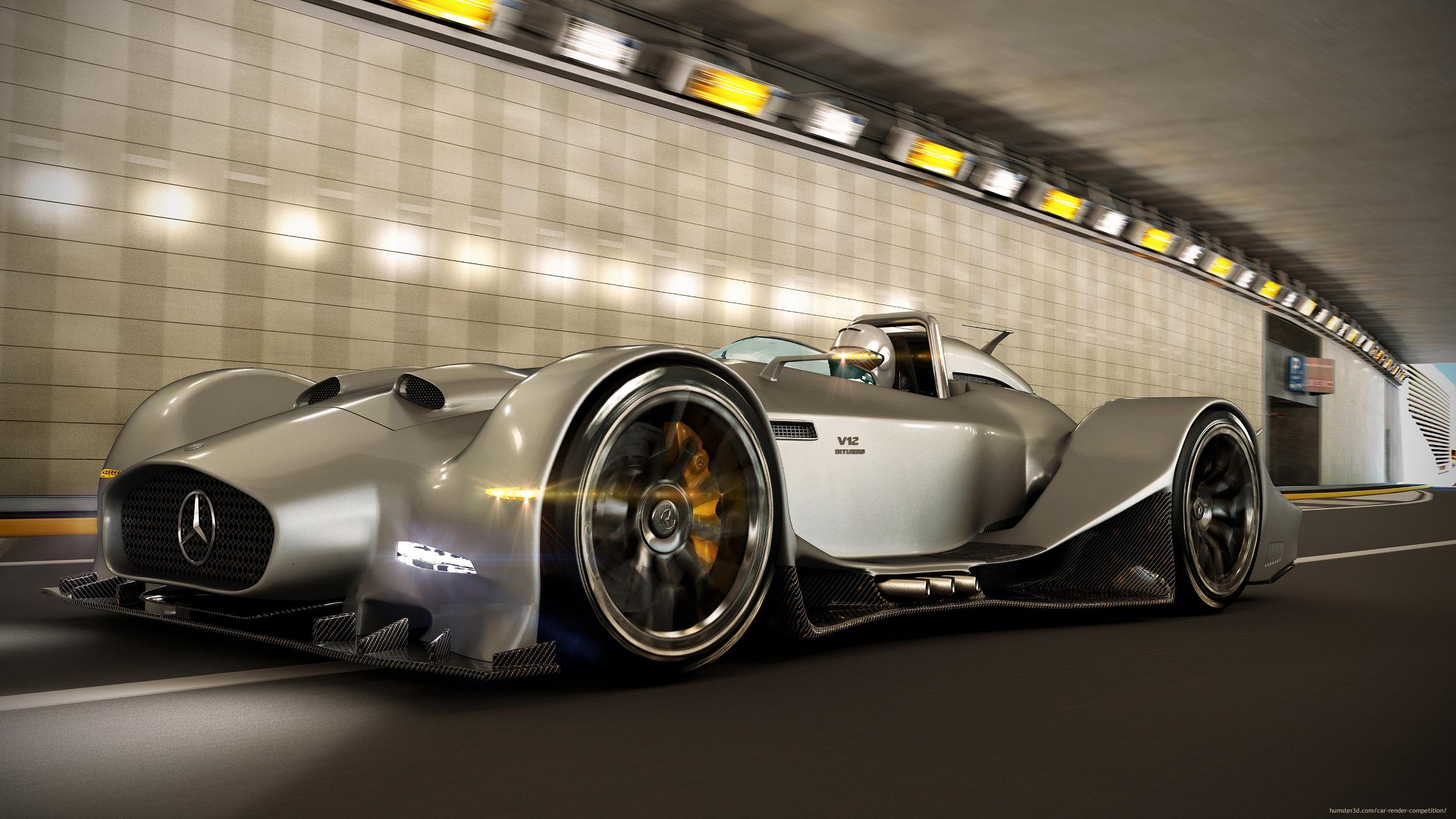 Mercedes Benz V12 concept 3d art