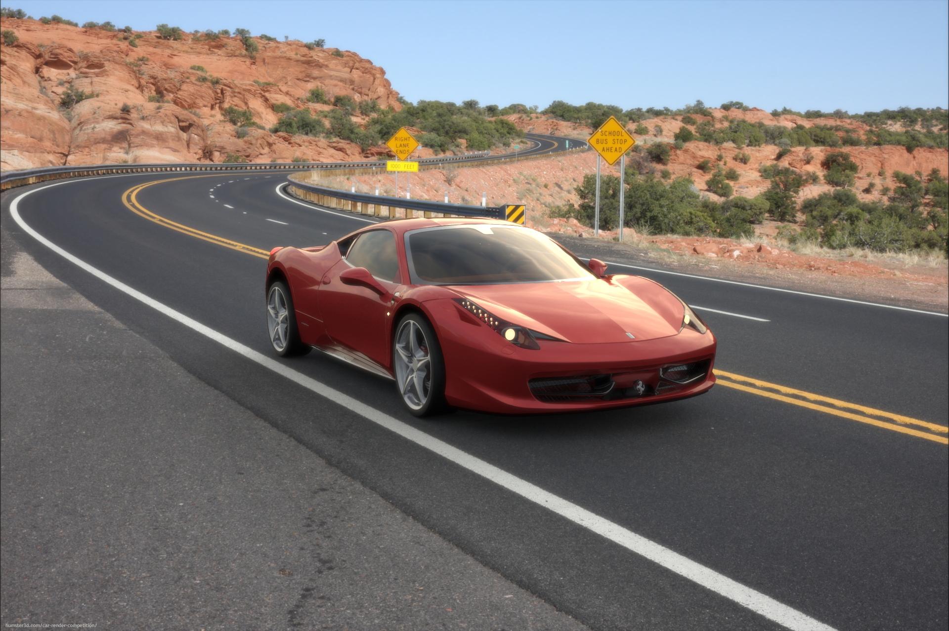 Ferrari 456 Itália 3d art
