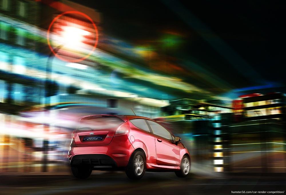 Ford fiesta 3d art