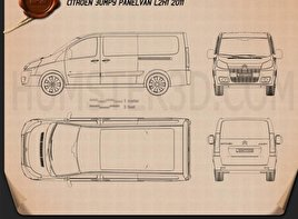 Citroen Jumpy Panel Van L2H1 2011 Blueprint