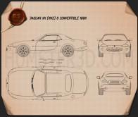 Jaguar XK8 convertible 1996 Blueprint