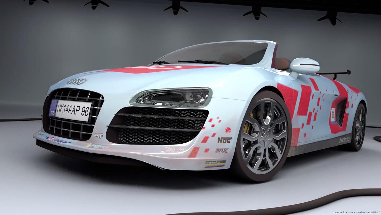 Audi R8 Spyder - Sport 3d art