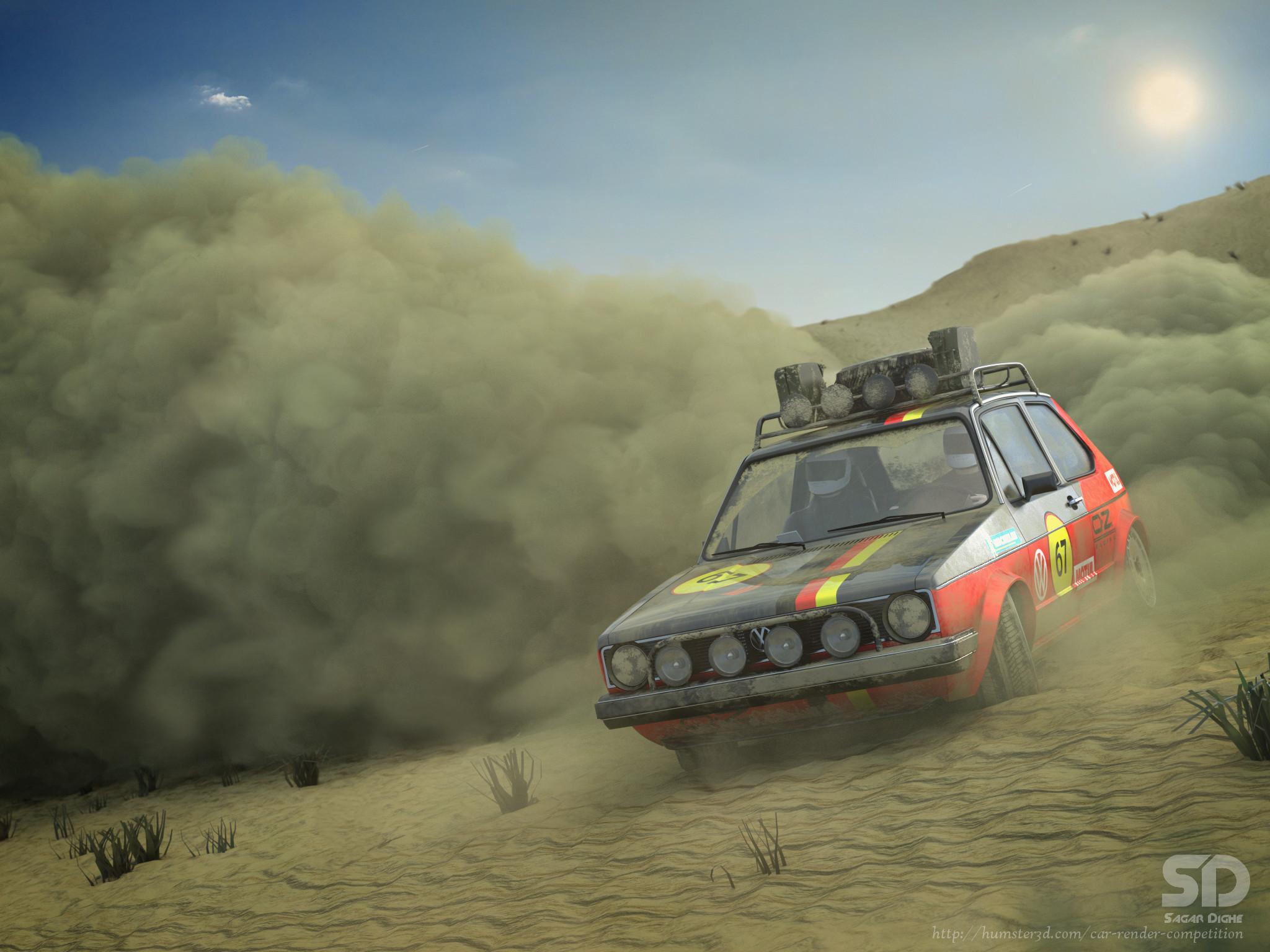 Volkswagen Golf Mk. I (Rally) 3d art