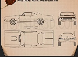 Dodge Coronet R/T Coupe 1968 Blueprint