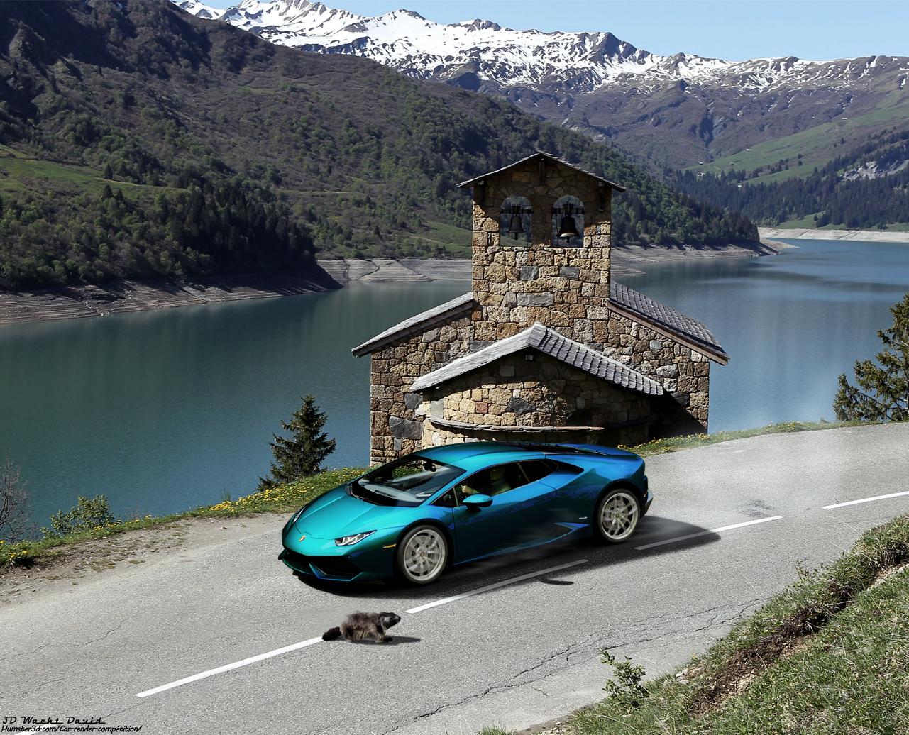 Enjoy the mountain roads 3d art