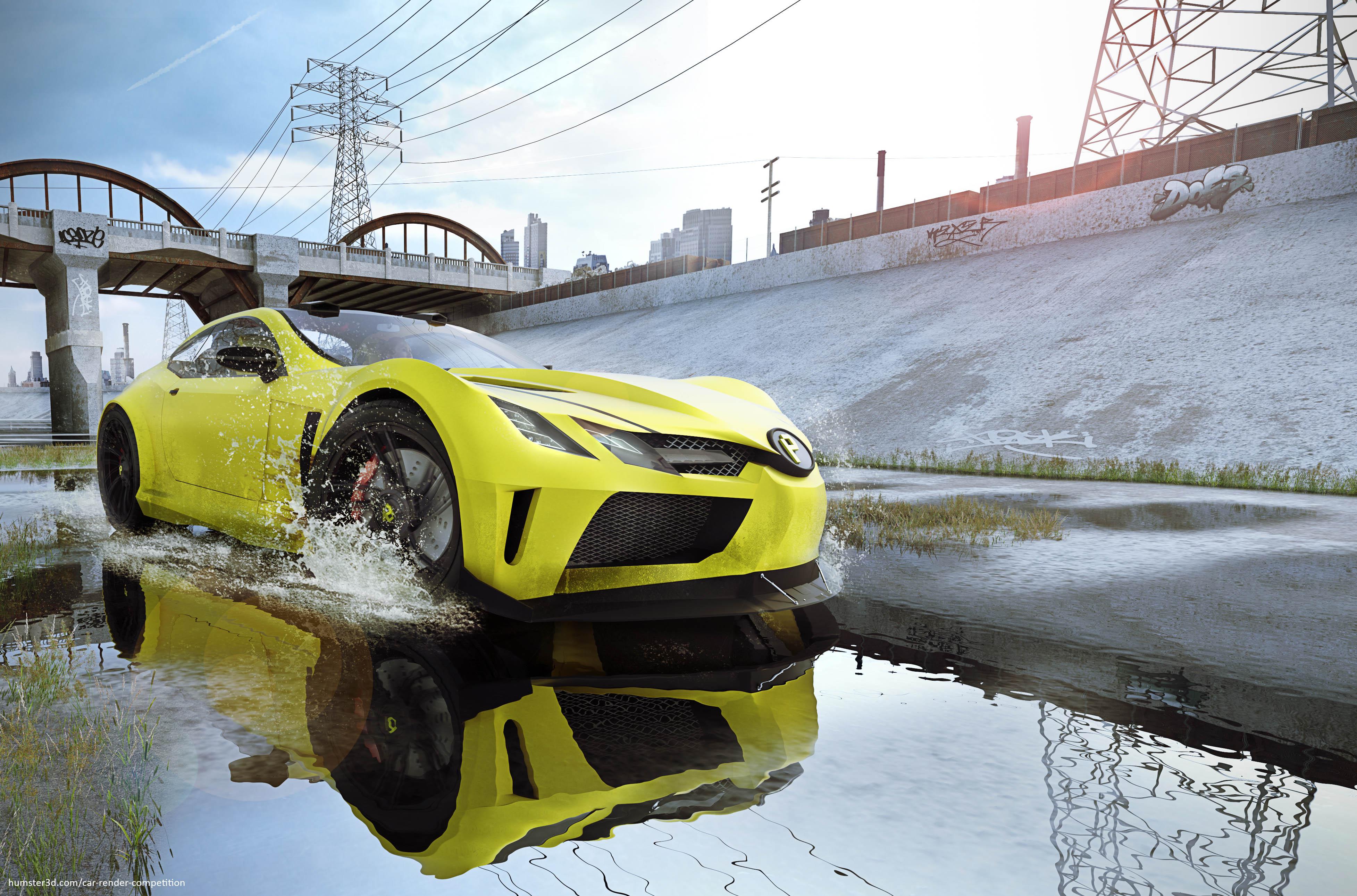 LA Floodway 3d art
