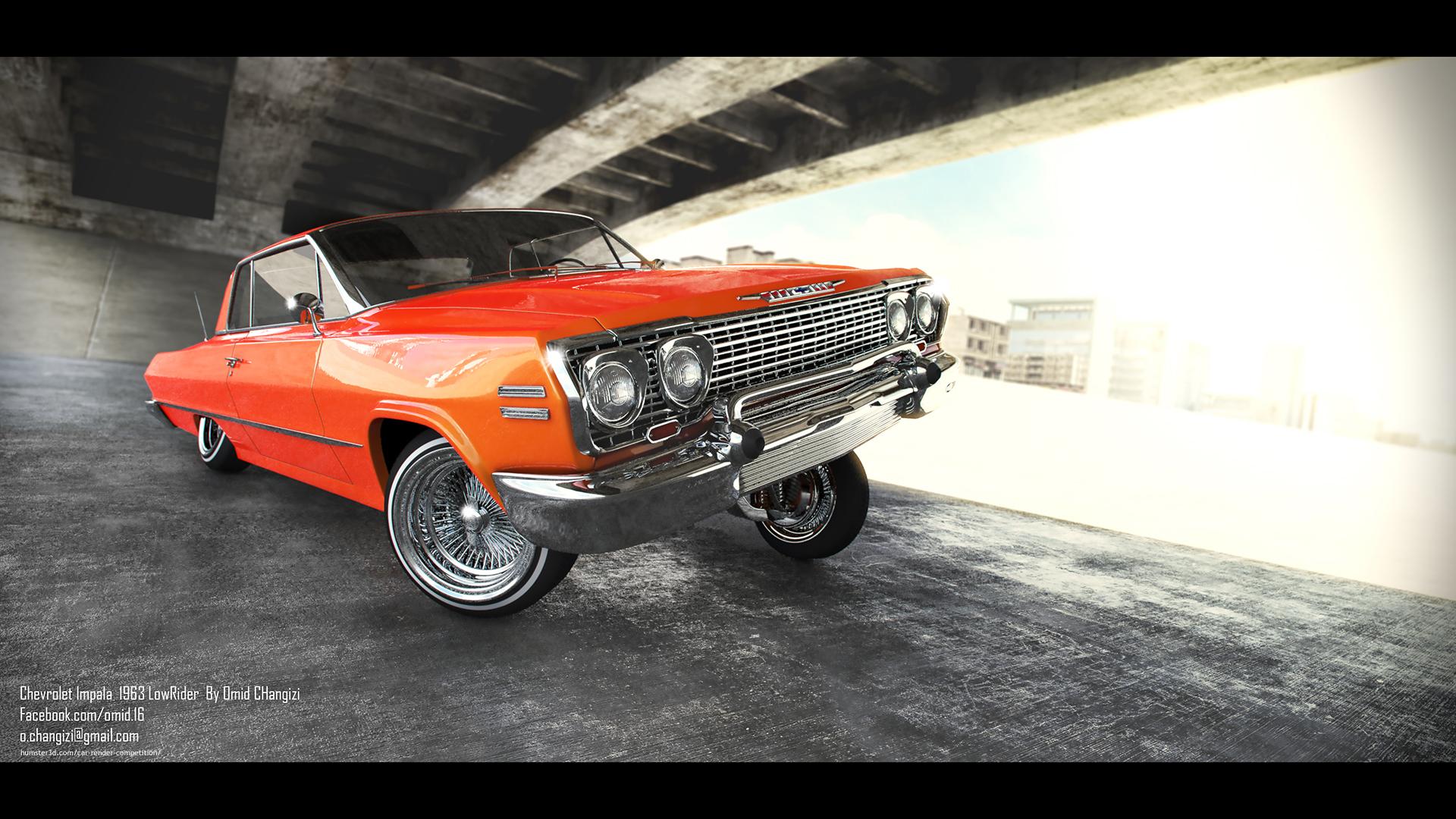Chevrolet Impala 1963 LowRider 3d art