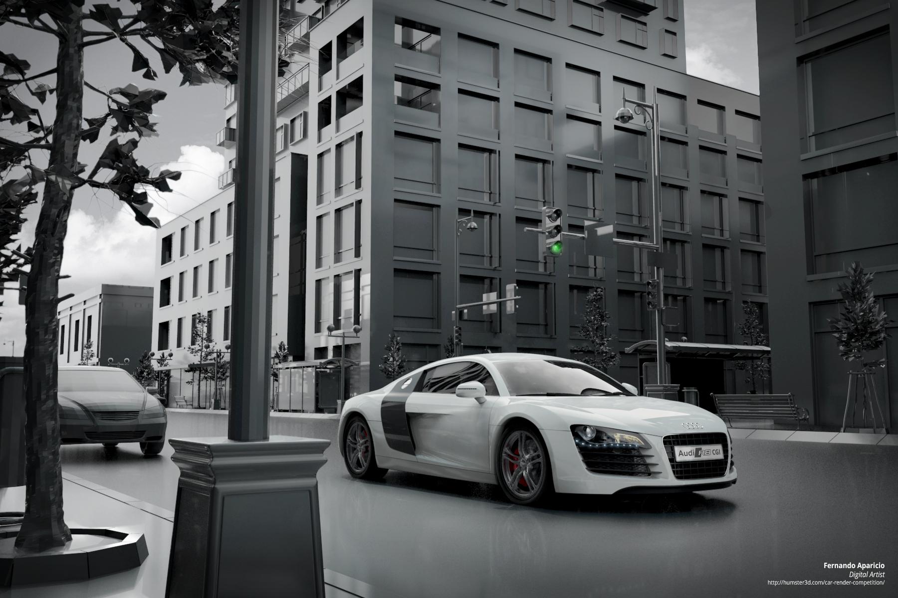 Audi R8 CGI 3d art