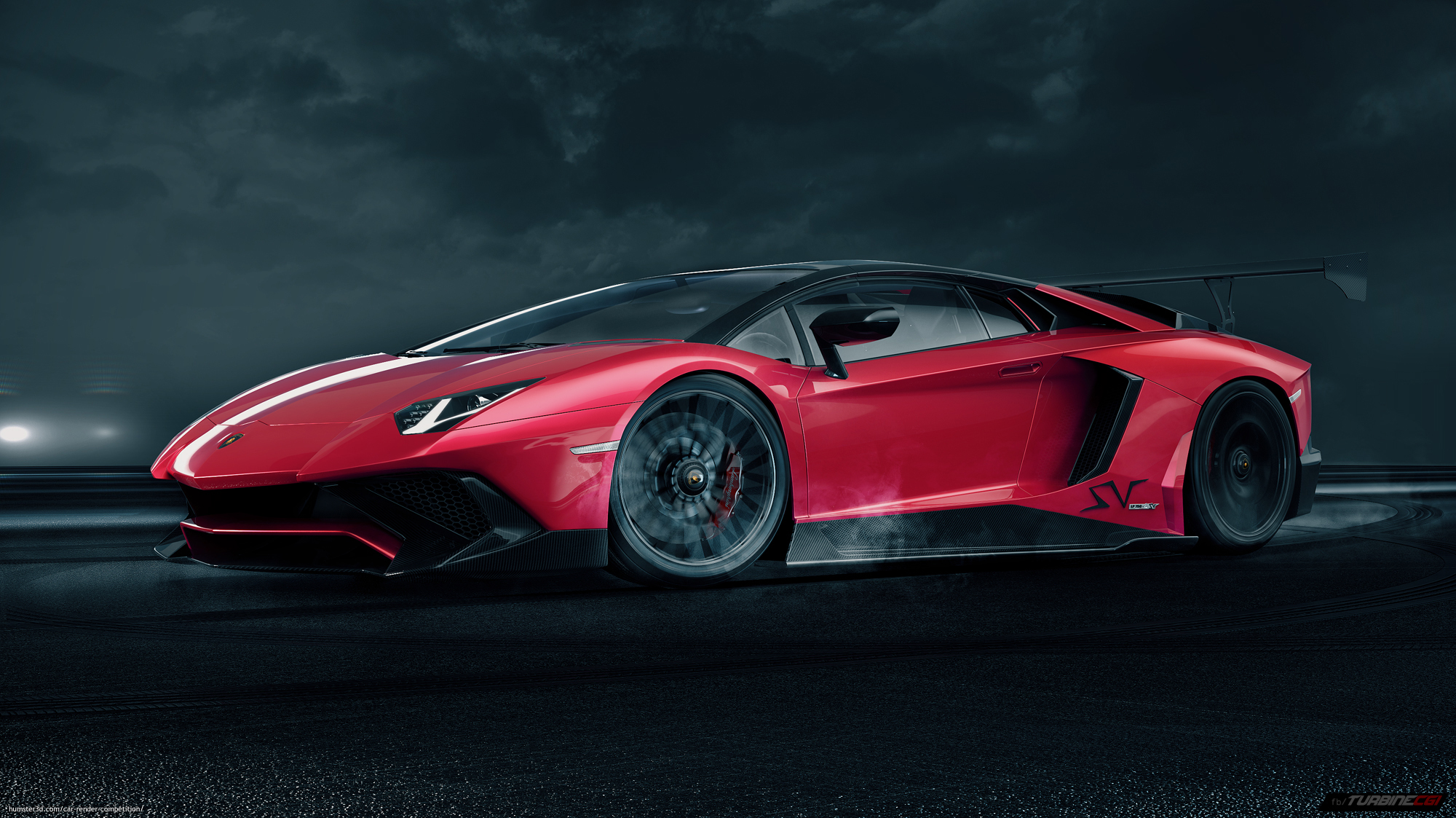 Lamborghini Aventador SV 3d art