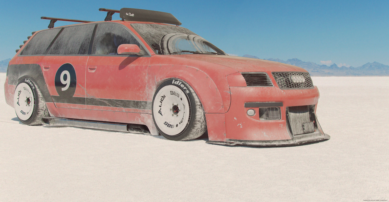 RS 6 Avant Bonneville 3d art