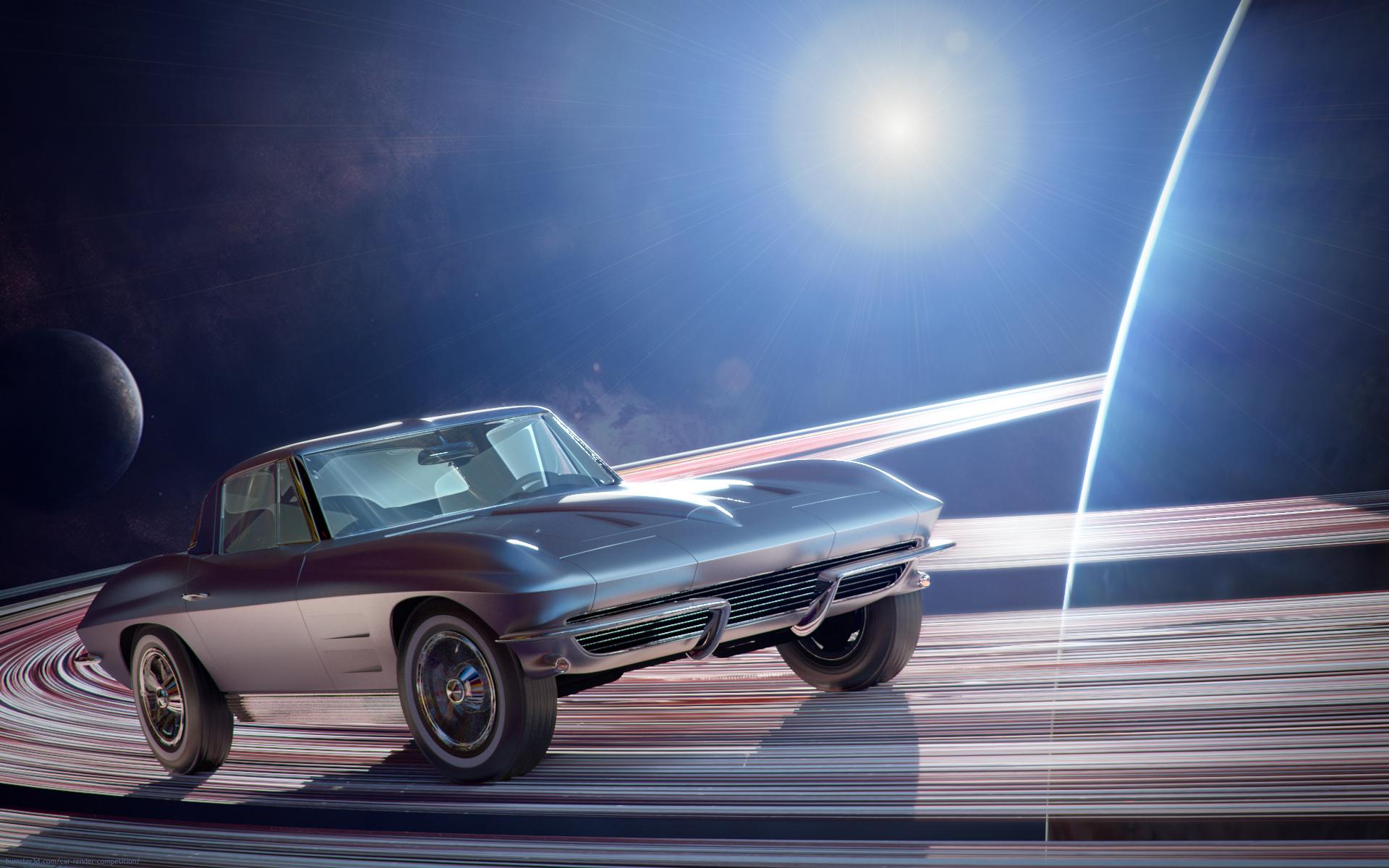 Chevrolet Corvette Stingray 3d art