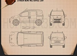 Citroen Nemo Multispace 2011 Blueprint