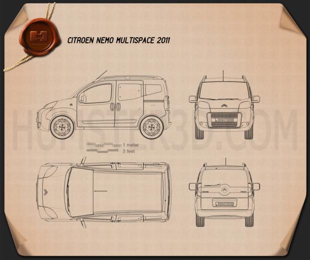 Citroen Nemo Multispace 2011 Blueprint