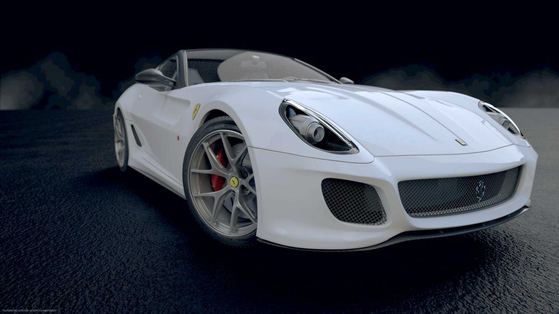 Ferrari 599 GTO 3d art