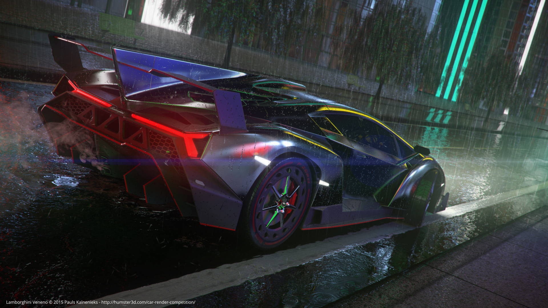 Lamborghini Veneno 3d art