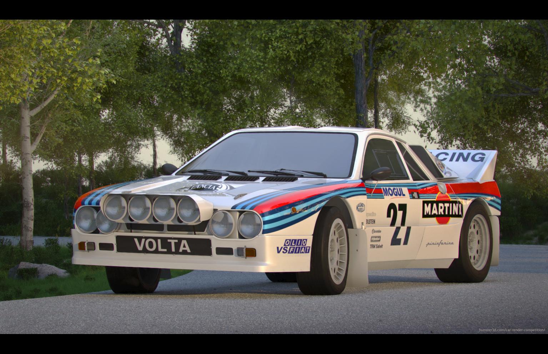 Lancia rally 037 3d art