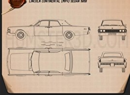Lincoln Continental sedan 1968 Blueprint