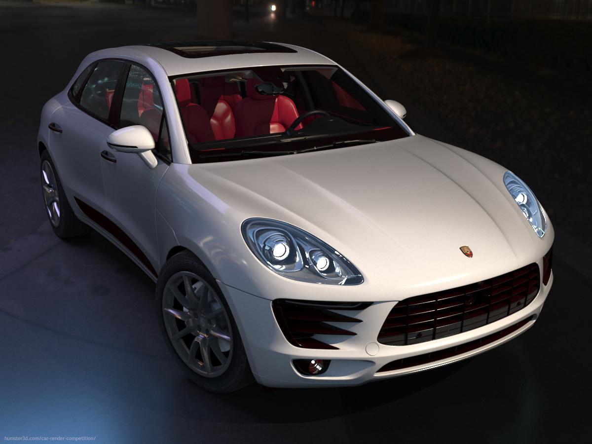 Porsche Macan enlarged 3d art