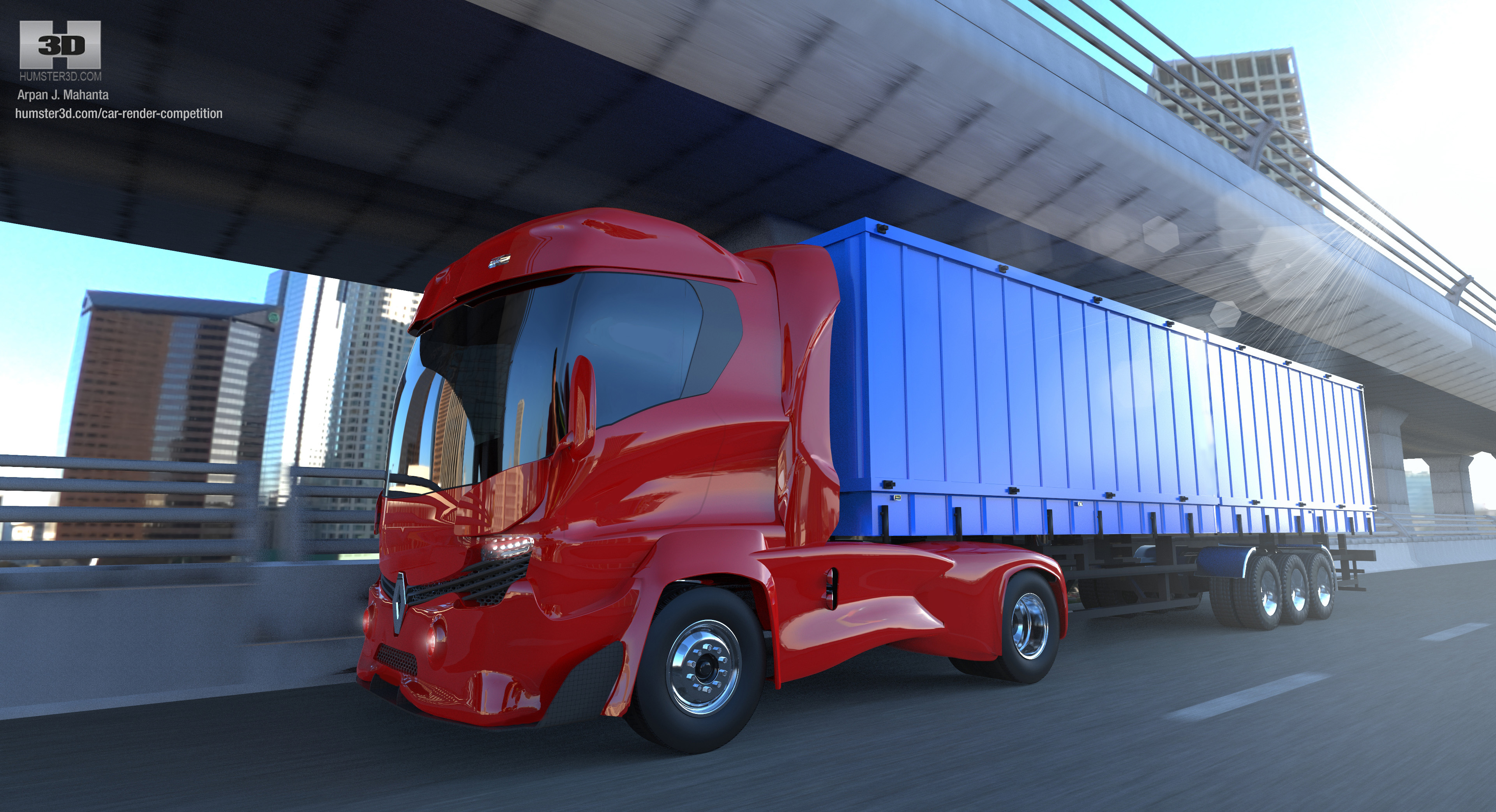 The Renault 'InsPir' Truck for 2020 : Original Concept 3d art