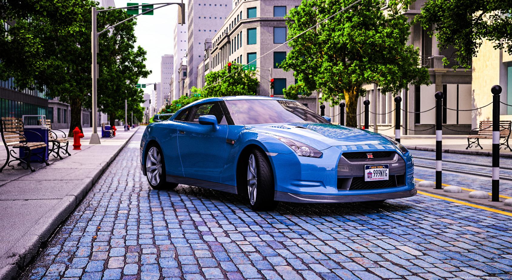 Street Nissan GTR 3d art