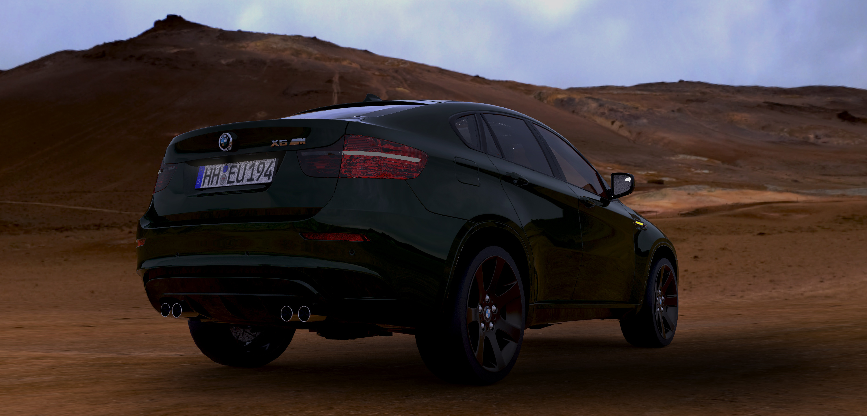 BMW X6 in the desert 3d art