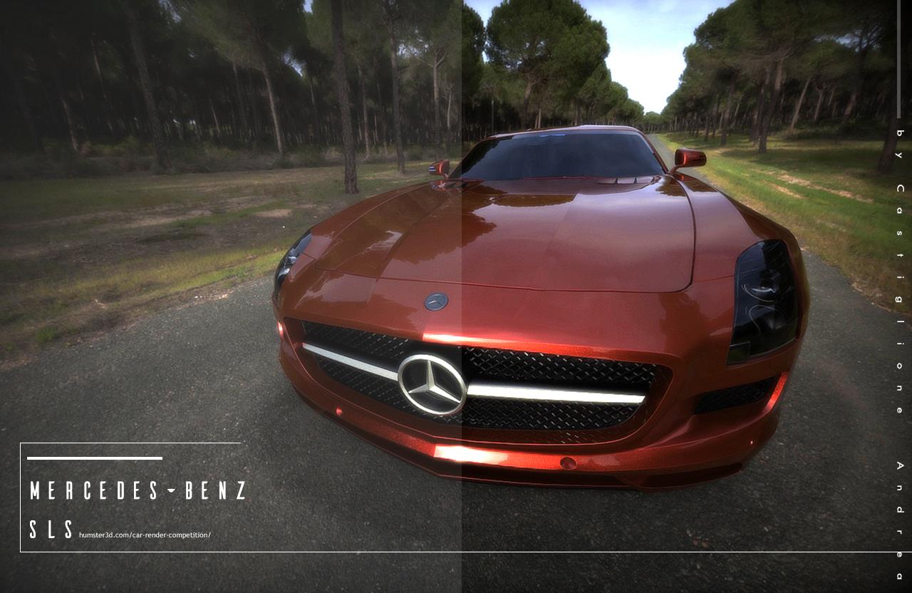 Als Mercedes benz 3d art