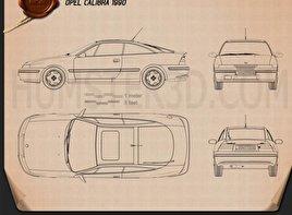 Opel Calibra 1990 Blueprint