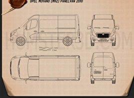 Opel Movano Panel Van 2010 Blueprint