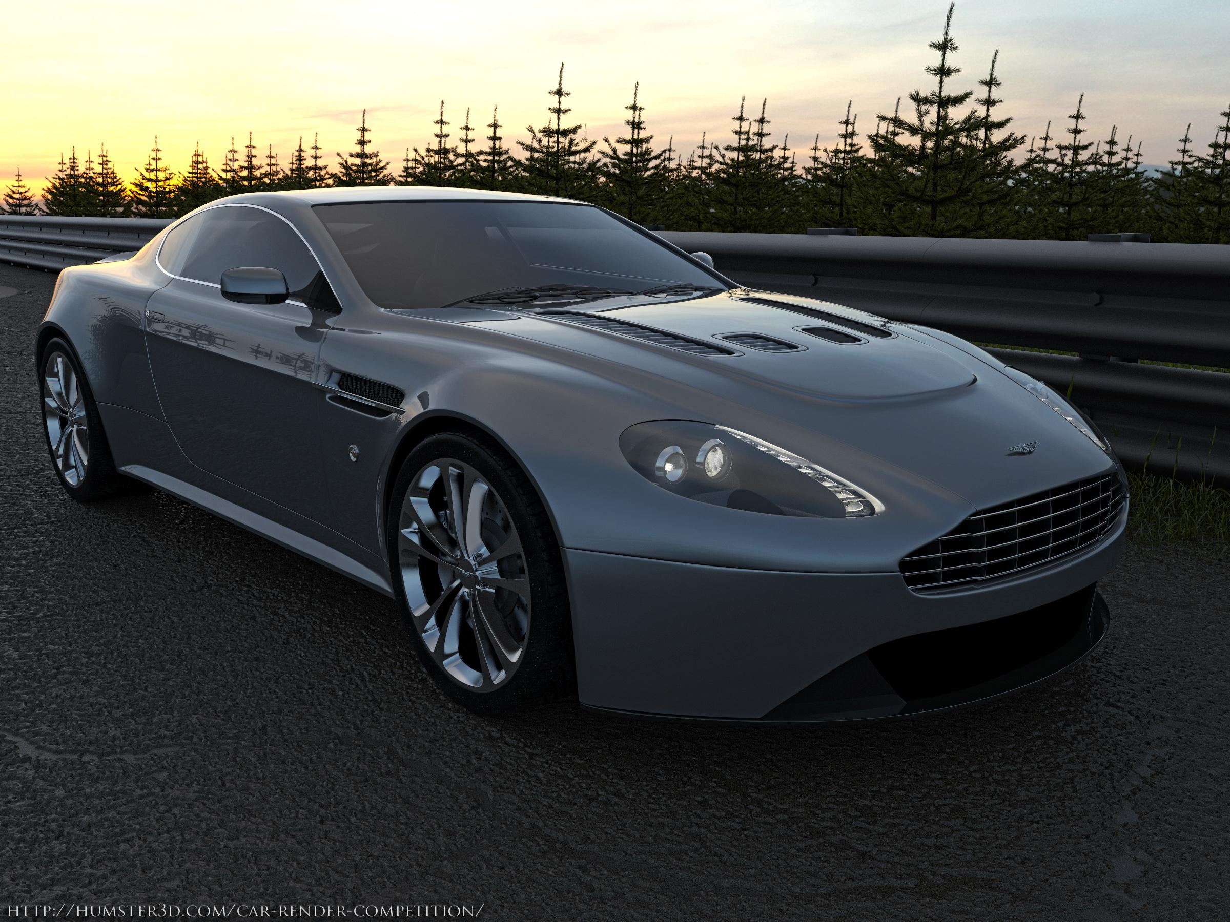 Aston Martin V12 Vantage 3d art