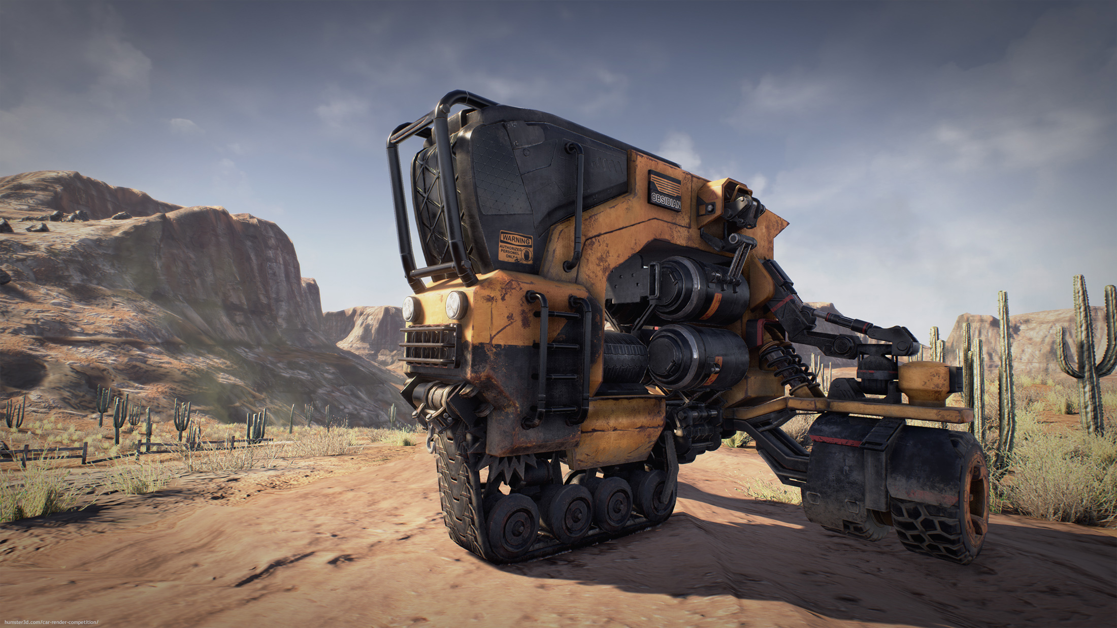 Desert explorer 3d art