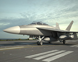 3D model of Boeing EA-18G Growler