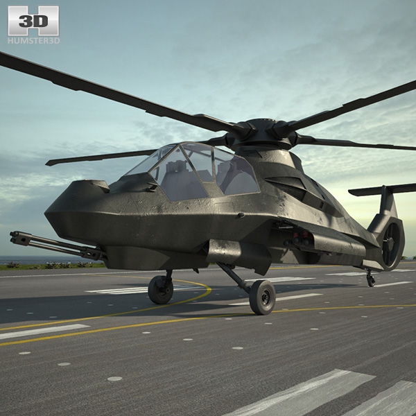 3D model of Boeing Sikorsky RAH-66 Comanche